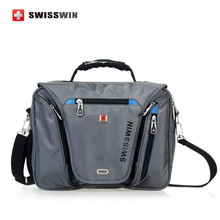 Swiss laptop Briefcase Waterproof men 15 inch laptop Bag women Multifunctional Men's Shoulder Bag portfolio male bag(China (Mainland))