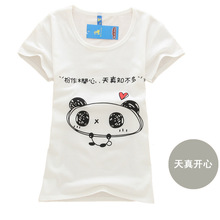 2016 New t shirt women High quality loose tops short sleeve Women short-sleeve female T-shirt print tees women t shirts(China (Mainland))