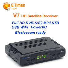 [Genuine] Freesat V7 DVB-S2 RT5370 HD Satellite TV Receiver Support USB Wifi PowerVu Biss Key Cccamd Youtube Youporn Set Top Box