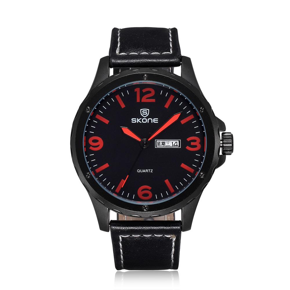 Skone Brand Men Watch Leather Quartz Watches Calendar Fashion Casual Wristwatches Alloy Wholesale Hot Sale<br><br>Aliexpress