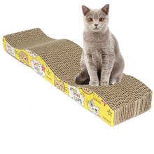 Hot Sale Cat Kitten Corrugated Scratch Board Pad Scratcher Bed Mat Claws Care w/ Catnip(China (Mainland))