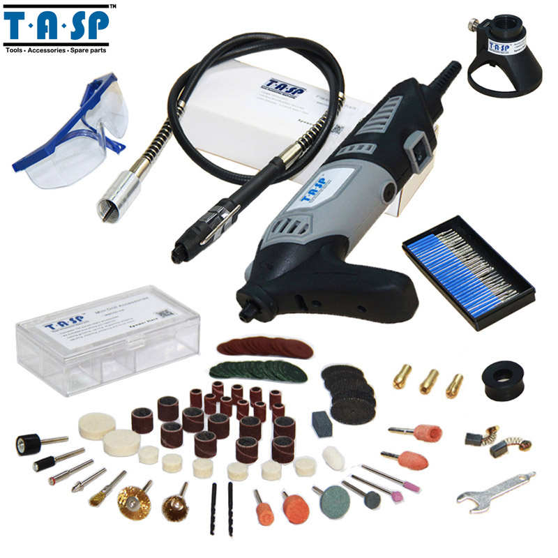 TASP 220V 170W Variable Speed Dremel Rotary Power Tool Electric Mini Drill with Flexible Shaft and Accessories Set(China (Mainland))