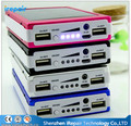 Real 12000mAh External Solar Power Bank Battery Charger 12000 mah Powerbank For iPhone For Samsung Cell