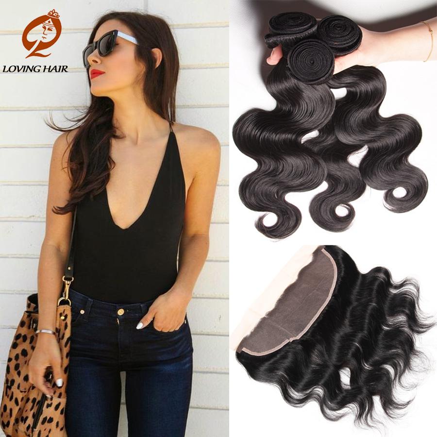 Весна сексуальный Грейс волос Индийский Девы необработанные человеческих волос кружева фронтальная закрытие Бади волос Девы волос объемной волны 3Bundles