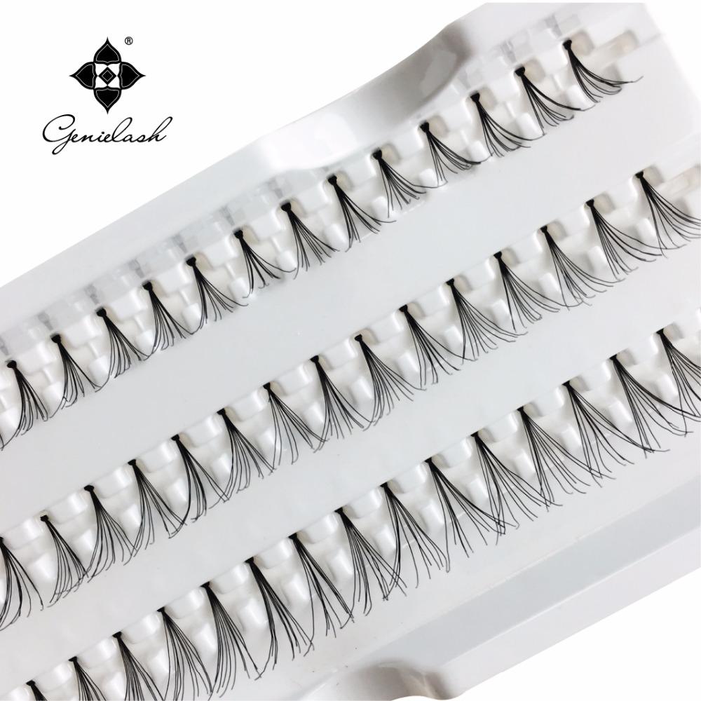 4 Cases 8/10/12/14mm Individual Flare False Eyelashes 10 Hairs/Cluster Fake Lashes(China (Mainland))