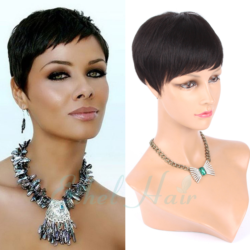 New Haircuts none Full Lace Short Human Hair Wigs For Black Women Brazilian Virgin Hair Wigs None Lace Human Hair Bob Wigs(China (Mainland))