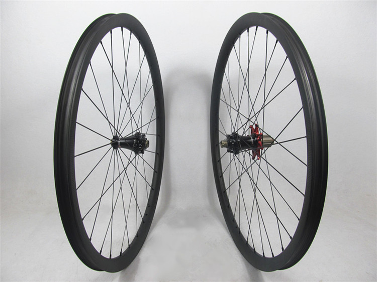 Only 1316g !! Extralite disc hubs with Sapim aero spoke, 29er Farsports MTB wheels 30mm with 28H front 32H rear , no outer holes(China (Mainland))