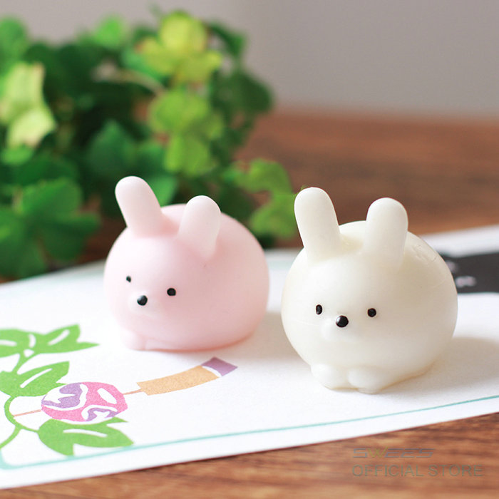 1 PCS Cute Mini Rabbit Mochi Squishy Bunny Phone Straps Slow Rising Squeeze Stretchy Charms Pendant Bread Kids Toy Xmas Gift(China (Mainland))