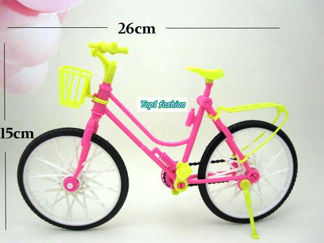 Free delivery lady birthday particular present bike equipment for barbie doll