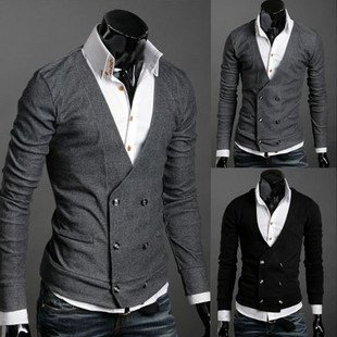 Fashion Shirts For Men cardigan V neck shirts man