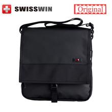 Swisswin Business Messenger Bag Brand Casual Shoulder Bag Medium Size Black Book Satchels Crossbody Waterproof Zipper Bag(China (Mainland))