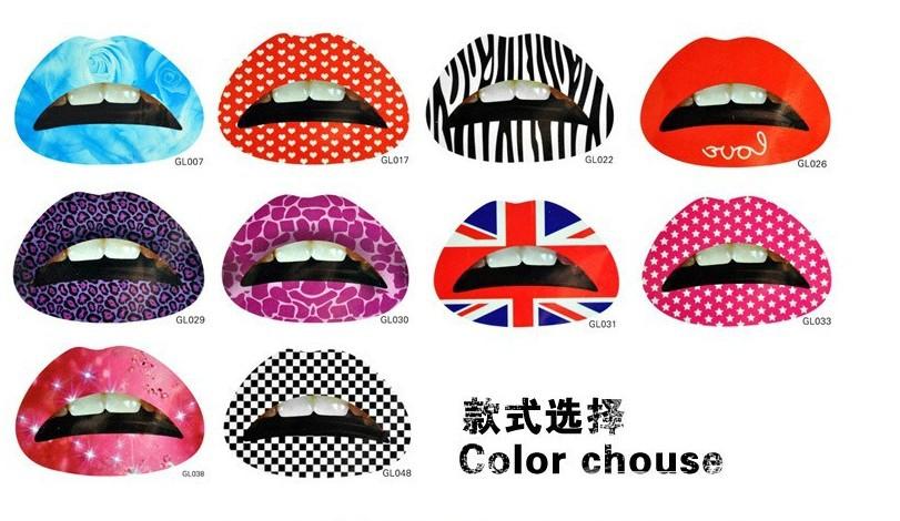 Gros Tatouage Lèvres Acheter Maquillage En À Autocollant Rouge trCsdohxQB