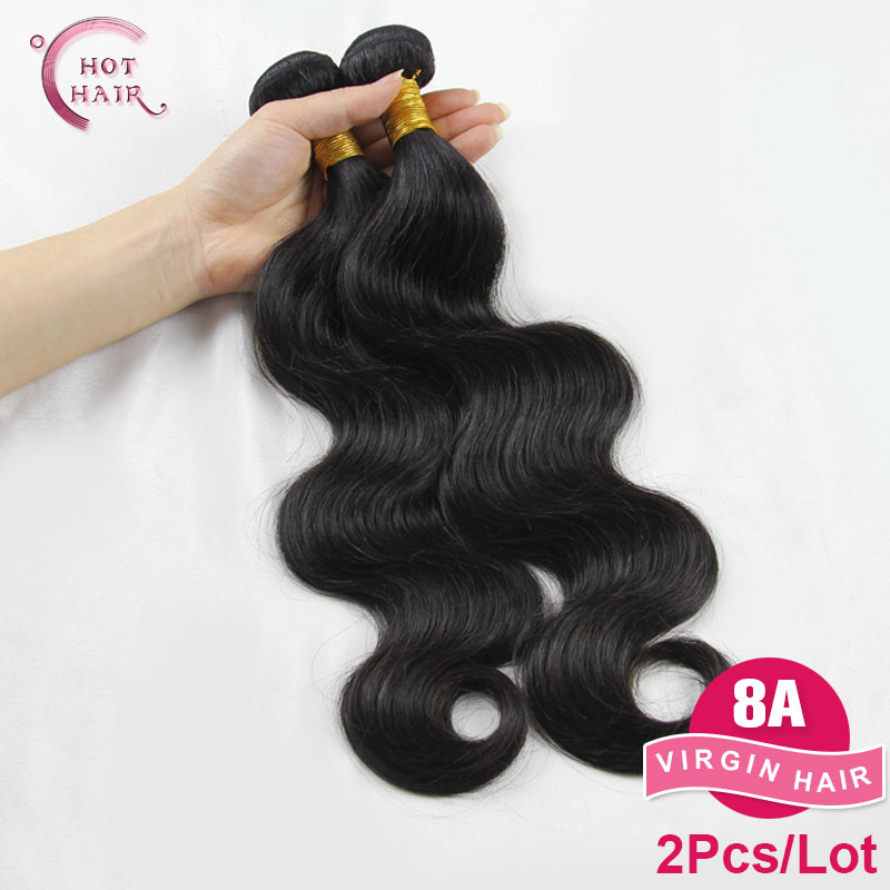 2Pcs/lot Virgin malaysian Hair Body Wave Real Malaysian Human Hair Extension 8A(China (Mainland))