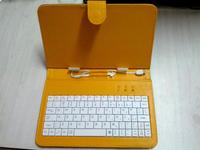 """микро- и стандартный usb 7' клавиатуры случае для 7"""" планшетного ПК Английский Русский Испанский Арабский многоязыковой моды цветов 4шт/лот"""