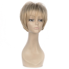 Blonde Short Women Synthetic Hair Wig Omber Natural Wigs For Europe Women Fashion Messy Daily  Wig(China (Mainland))