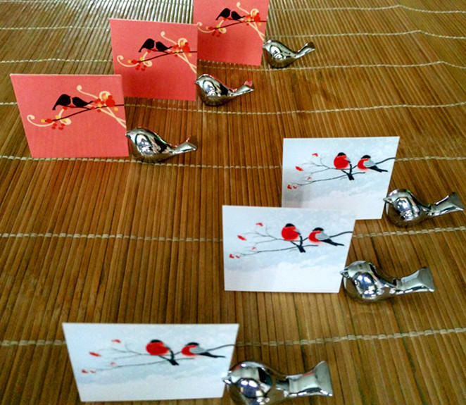 Promotion Sale 10pcs/lot Party Favors Love Bird Card Holder Favors with Brushed Silver Finish Chopstick Holders(China (Mainland))