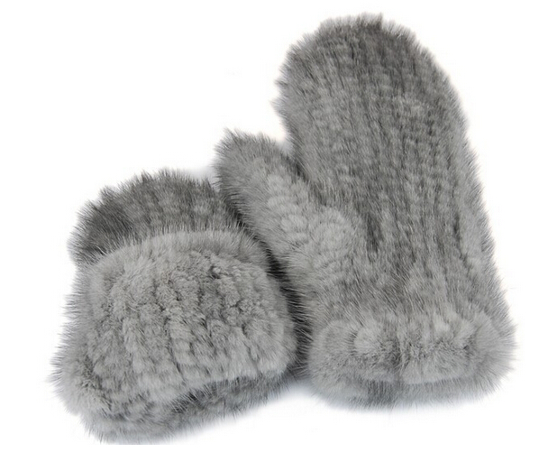 The latest super-elastic imported mink gloves warm winter mittens Halter female mink knit gloves cute mittens(China (Mainland))