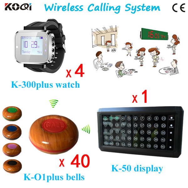 Wireless Waiter Call System for Restaurant with LED Display Watch Pager Bell Button CE Approved 433.92 mhz(China (Mainland))