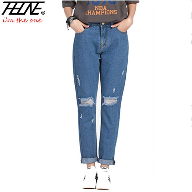 2016 лето бойфренд джинсы женщин мода брюки джинсовые брюки свободного покроя шаровары ...