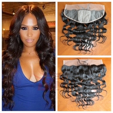 4×4 silk top lace frontal closure human hair 13×4 virgin brazilian body wave silk base frontal with baby hair 3 color can choose