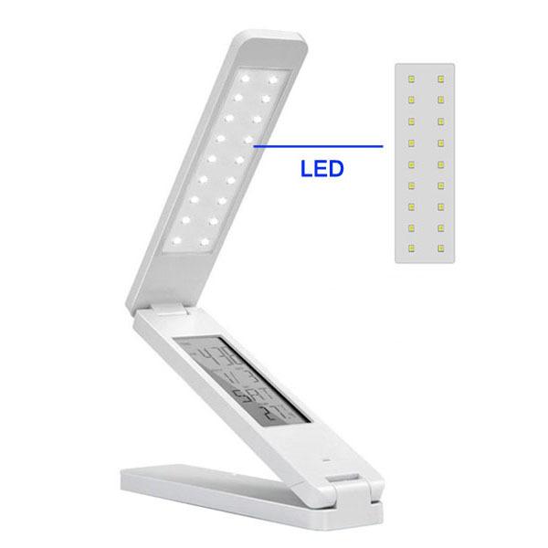 LED-5098_2_180 Degree Multifunction Rechargeable Portable Folding White LED Desk Lamp