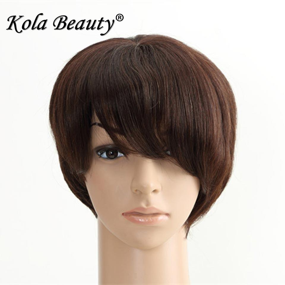 Sale Promotion 100% Short Human Hair Wigs Natural Brazilian Hair Wigs Machine Made Short Wig for Black Women Human Wig <br><br>Aliexpress