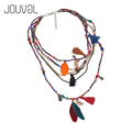Ethnic Long Bohemian Necklace Women 2017 Collar Tassels Feather Pendant Collier Femme Rope Chain Jewelry Accessories N1319