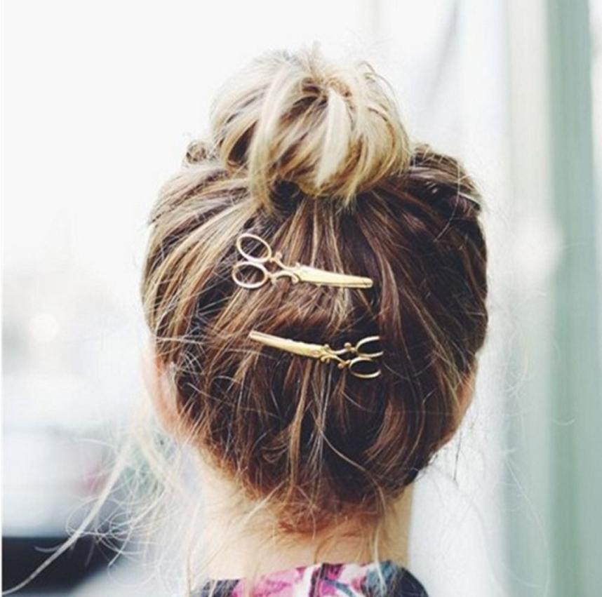 1PC Hair Clip Hot Sale Women Headwear Casual Scissors Pattern New Fashion Hair Clip Hair Barrettes Apparel Accessories Headpiece(China (Mainland))