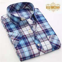 2016 New Men Plaid Shirts Summer Slim Breathable Short-Sleeve Man Shirt Formal&Casual Fashion Dress S-4XL Men's Shirts YN530(China (Mainland))