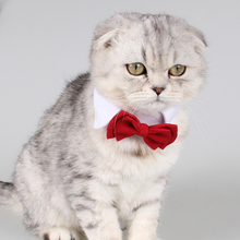 Pet Supplies Cotton Red Bow Tie Dog Cat Lovely Adorable Sweetie Grooming Tie Necktie Wear Clothing Products