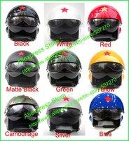 TK китайский военно-воздушных сил струи экспериментального открытым лицом шлем мотоцикла глянец черного & козырек взрослых m, l, xl, xxl