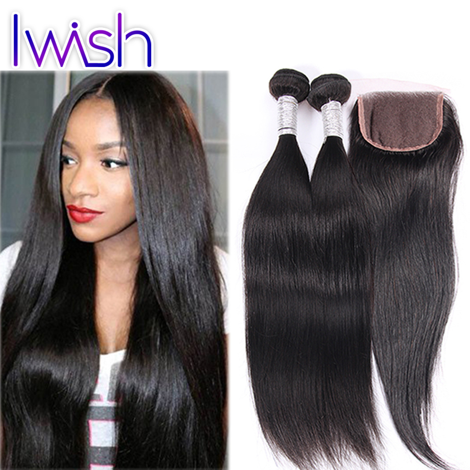 Peruvian Virgin Hair with Closure 7A Straight Human Hair Bundles with Lace Closures 5Pcs Lot Weave Peruvian Virgin Hair Straight<br><br>Aliexpress