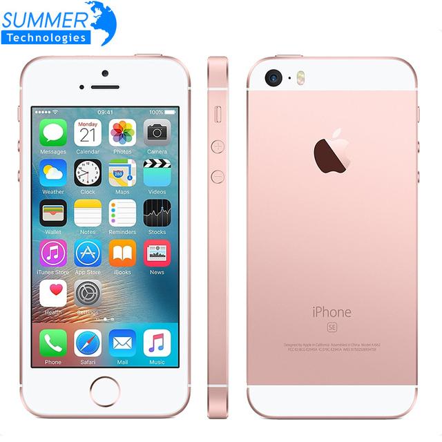 Оригинальный Разблокирована Apple iPhone SE Мобильный Телефон A9 iOS 9 Двухъядерный 4 Г LTE 2 ГБ RAM 16/64 ГБ ROM 4.0 ''Отпечатков Пальцев смартфон