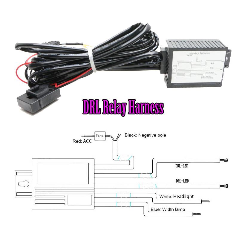 Car LED DRL Controller 12V LED Daytime Running Light DRL ...