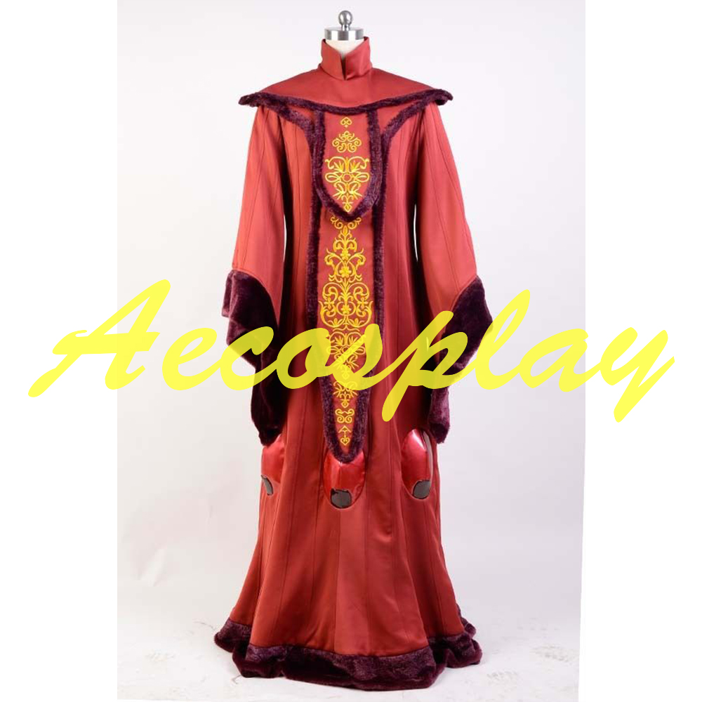 Star Wars Phantom Menace Queen Padme Amidala Halloween COSplay Costume Outfit Halloween Customized