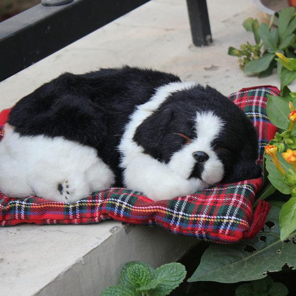 animal cute simualtion sleeping and breathing dogs(China (Mainland))