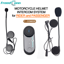 2016 New Set FreedConn T-COM02S Motorcycle Helmet Intercom System for Rider And Passenger