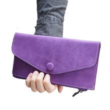 Women Wallets Dull Polish Wallet Clutch Purse Wristlet PU Leather Handbags Lady's Best Accessorse