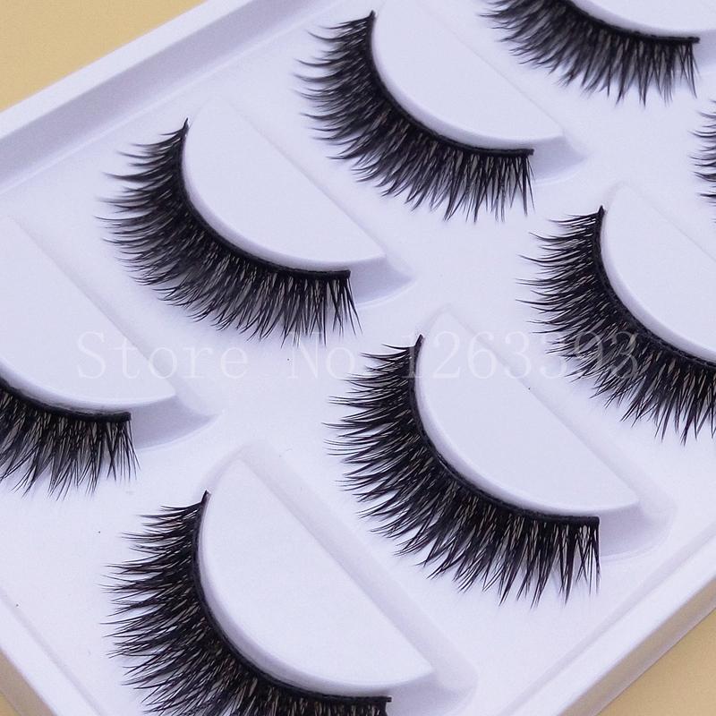 Wholesale Short Paragraph Natural False Eyelashes Mounted Cross Thick False Eyelashes High Quality Makeup Fake Eyelashes(China (Mainland))
