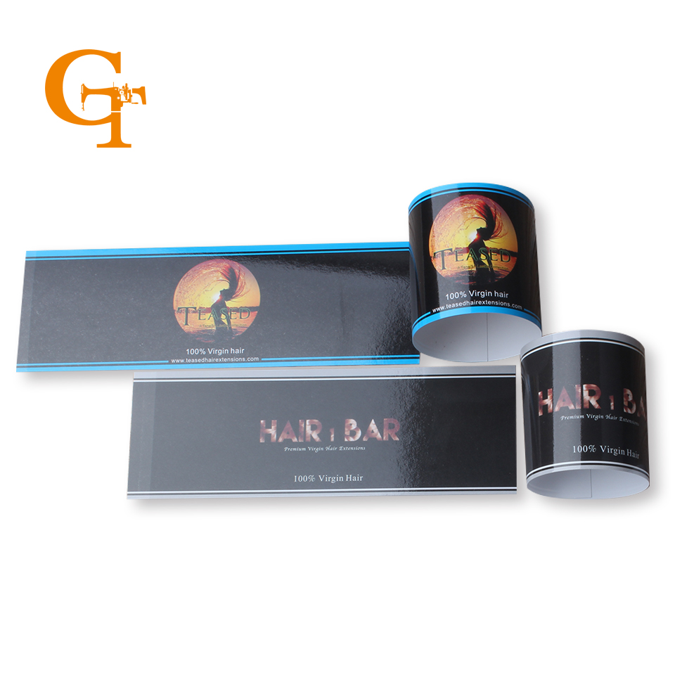 2016 fashion custom hair labels shop brand name hair wig extension packaging seal warps,hair accessories extension(China (Mainland))
