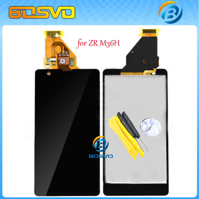 100% Brand new LCD Display with Touch Screen digitizer assembly for Sony for Xperia ZR M36h C5502 C5503 1pcs free shipping+tools(China (Mainland))