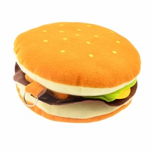 Soft Plush Hamburger Shape 20 Disc CD VCD DVD Protector Organizer Wallet Storage Sheet Case Holder Bag(China (Mainland))
