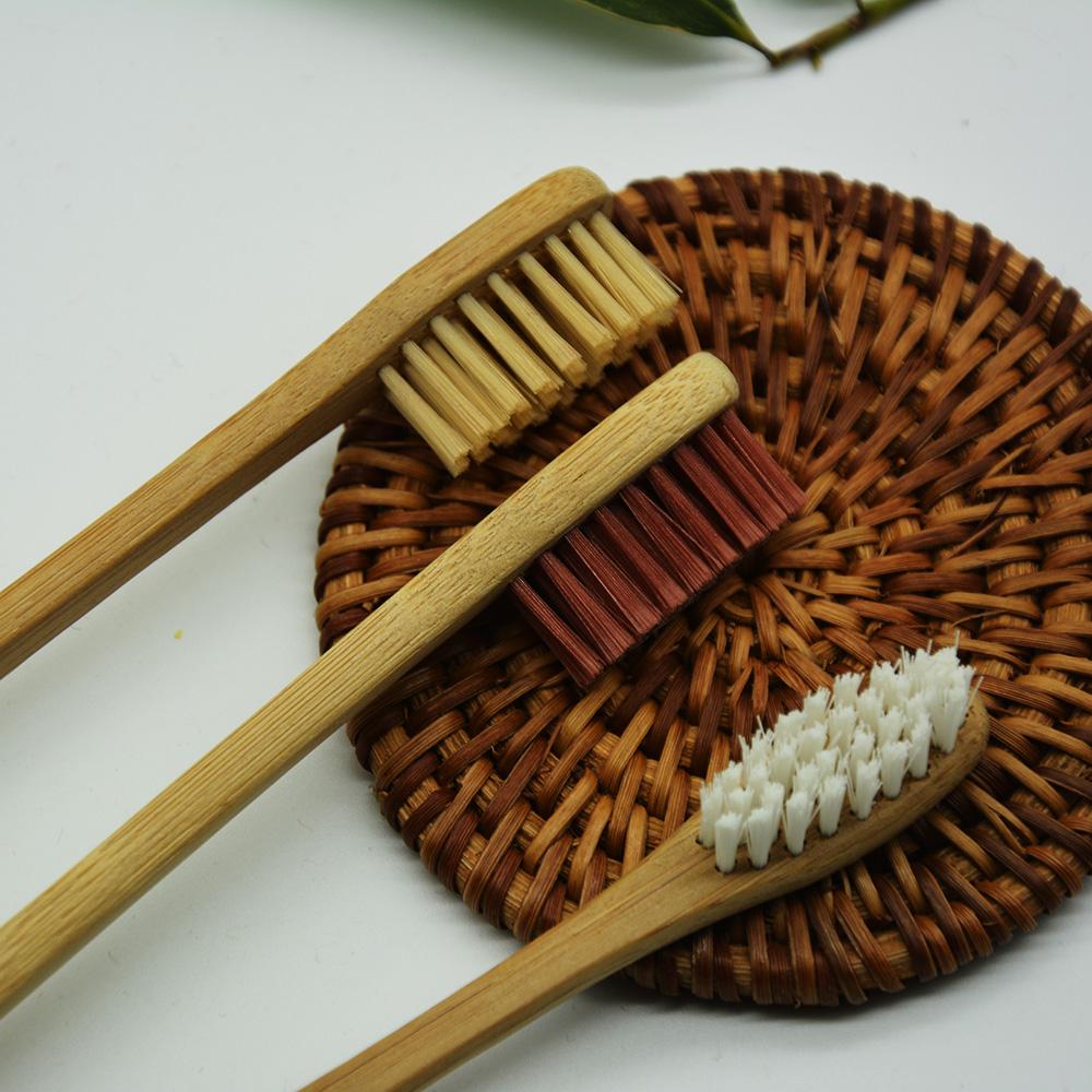 Natural bamboo toothbrush wood toothbrush, brush three color, random shipment<br><br>Aliexpress