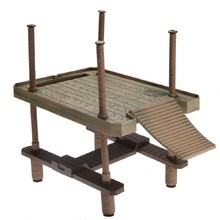 Free Shipping Hotsale Reptile Large Turtle Square Pier Platform with Ramp Ladder(China (Mainland))