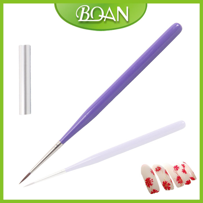 BQAN New 00# 7mm High Quality Nylon Hair Soft Nail Gel Brushes Painting Drawing Pen Brush For Manicure(China (Mainland))