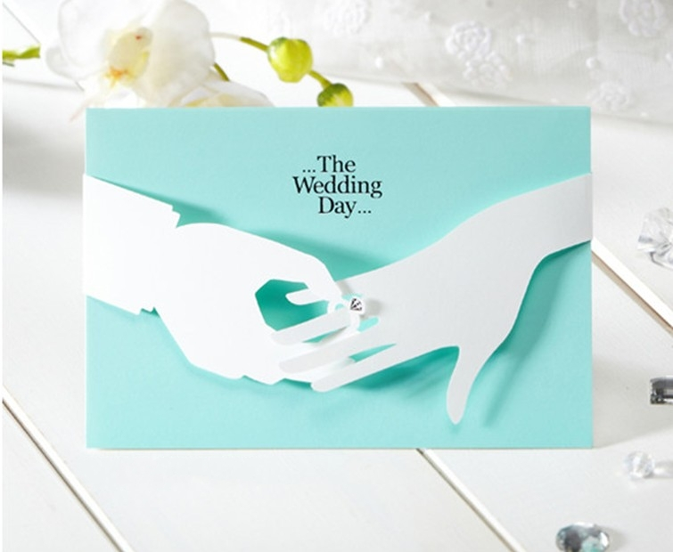 Aliexpress.com: Comprar Romántica azul para imprimir tarjeta de ...
