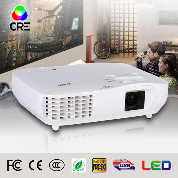 CRE X2000-VX Resolution 1920X1080 Native Full HD 1080p 3d led projector ,Hindi mp3 song download led projector(China (Mainland))