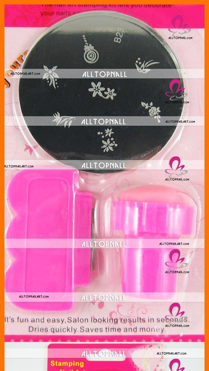 Free Shipping Wholesale-nail systems stamping Nail Art Stamping Kits 36 setslots mix designs_01.jpg
