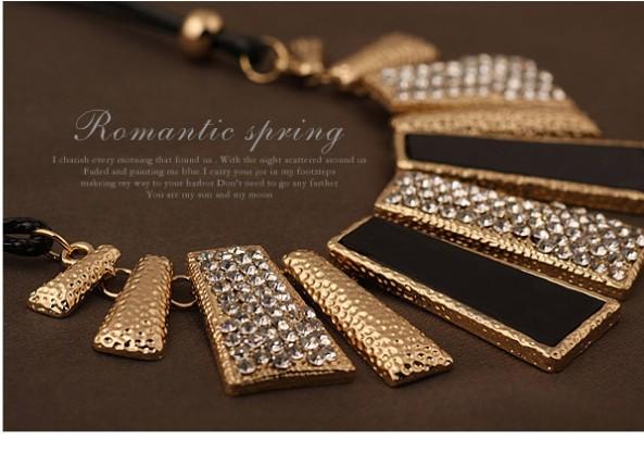 ניו וינטג ' תכשיטי זהב מצופה סגסוגת קריסטל עור PU שרשראות & תליונים הסיטוניים דקות$10(פריטים מעורבים) משלוח חינם