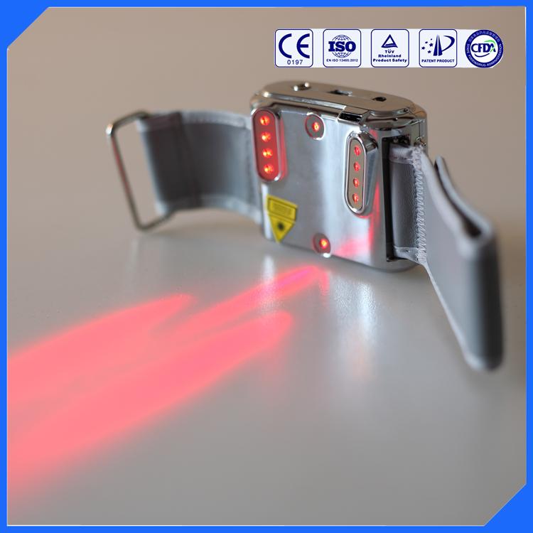LASPOT factory offer wrist watch green laser for treatment of diabetes, hyperlipaemia, hypertention, rhinitis(China (Mainland))